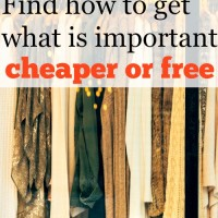 Step 12: Find how to get what is important cheaper or free