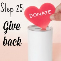 Step 25: Give back