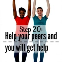 Step 20: Help your peers and you will get help