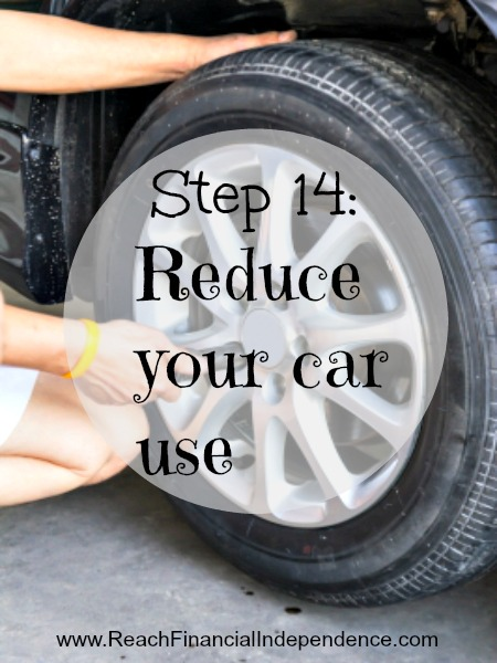 Step 14: Reduce your car use