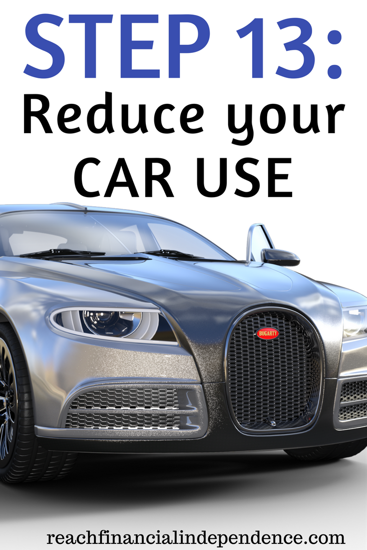 Step 14: Reduce your car use. This post is part of a 30 days series called the 30 steps program to financial independence.