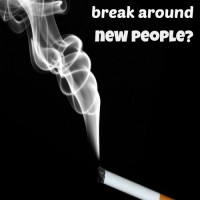 Are old habits are easier to break around new people?