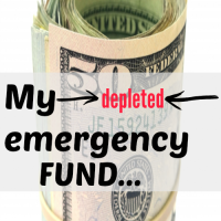 My depleted emergency fund