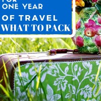 One suitcase for one year of travel, what to pack