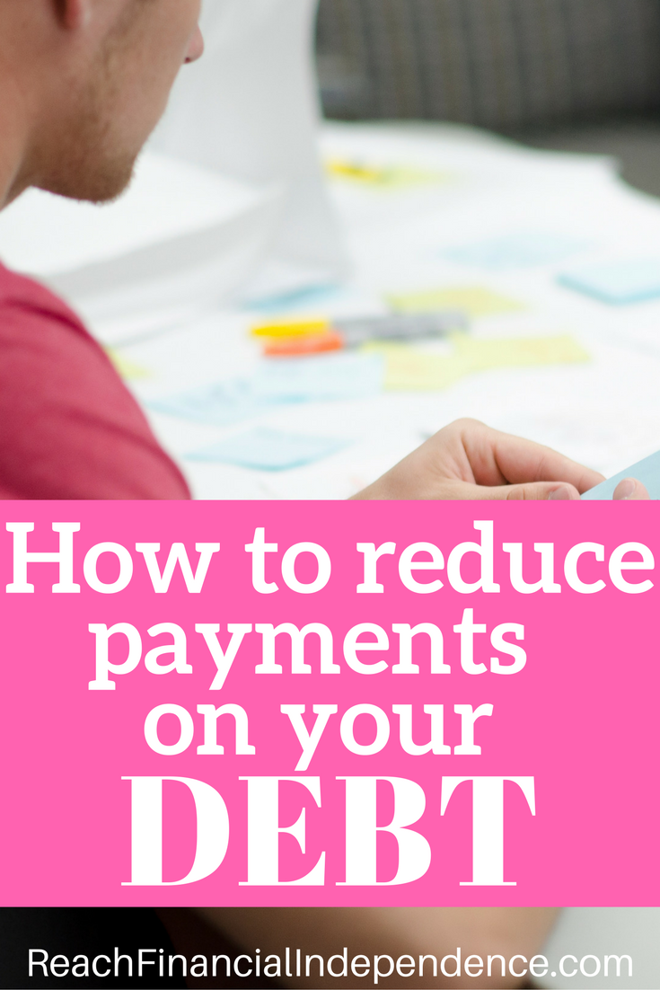In order to reduce payments on your debt, you can either reduce the capital repayment, the interest rate or both.