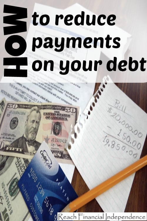 How to reduce payments on your debt