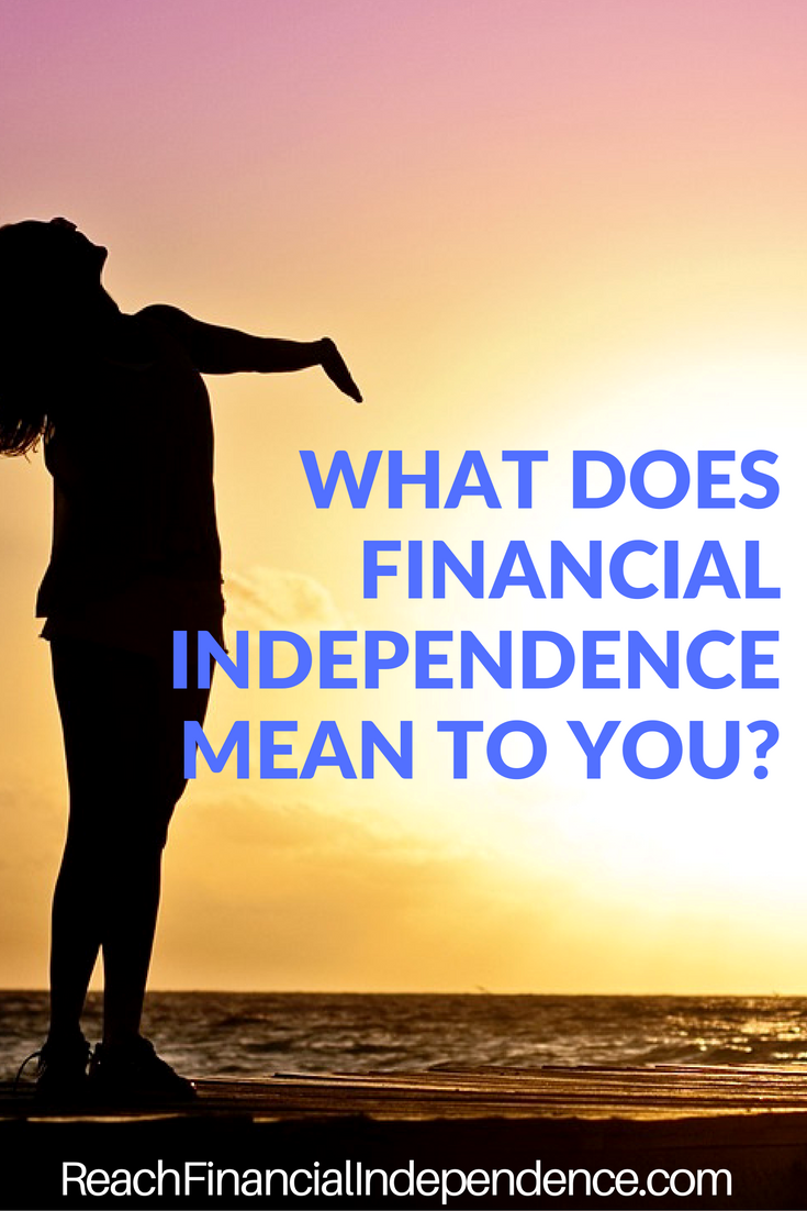 The key to financial independence is being free from financial obligation to others.