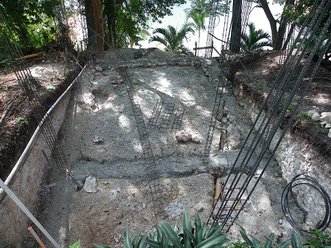 the room's foundations