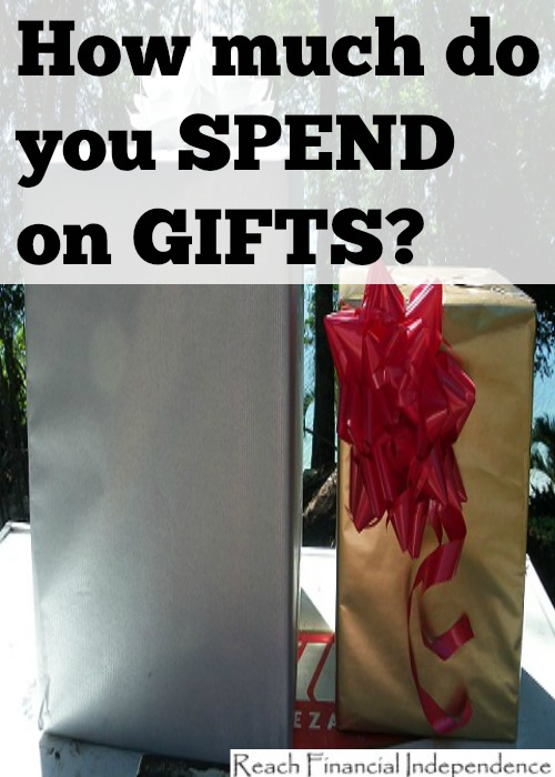 you spend on gifts