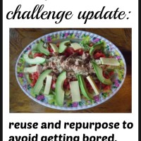 Zero food waste challenge update: reuse and repurpose to avoid getting bored.