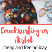 Couchsurfing vs Airbnb, cheap and free holiday accommodation