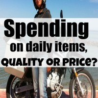 Spending on daily items, quality or price?