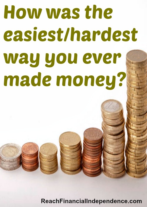 easiest/hardest way you ever made money