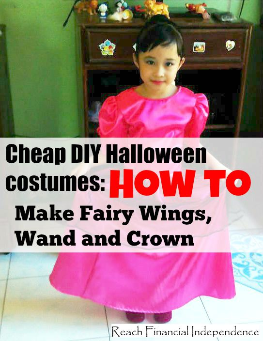 Cheap DIY Halloween costumes: How to Make Fairy Wings, Wand and Crown
