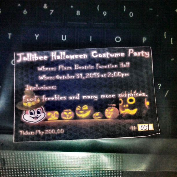 Halloween Ticket