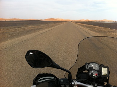 Getting to the Sahara dunes