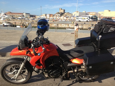 Ready to board the ferry in Tarifa