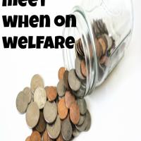 Making ends meet when on welfare