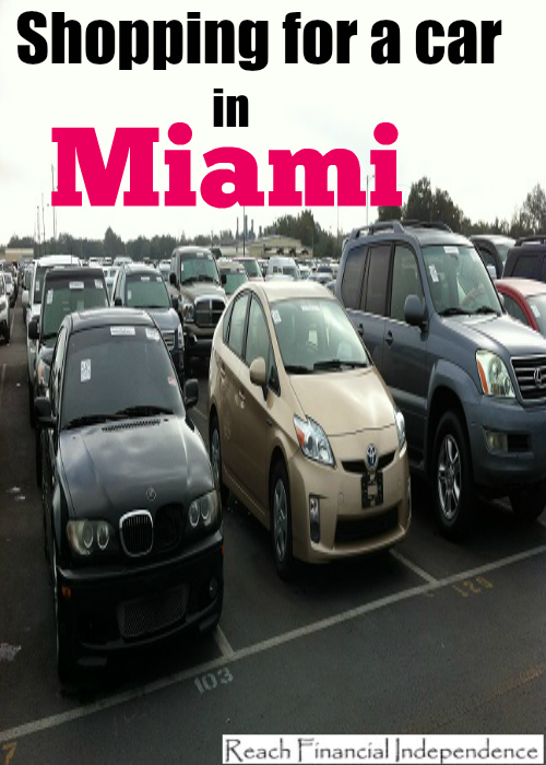 Shopping for a car in Miami