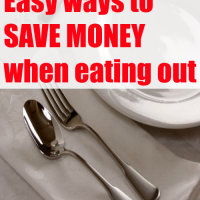 Easy ways to save money when eating out