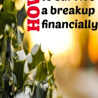 How to survive a breakup financially