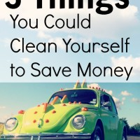 3 Things You Could Clean Yourself to Save Money