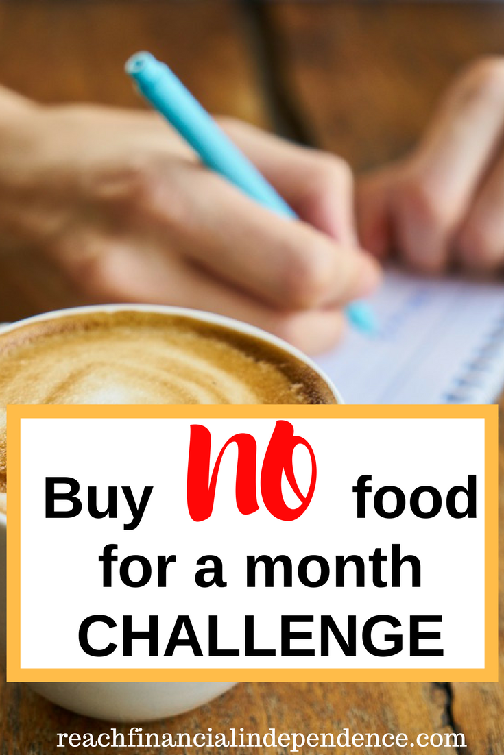 Buy No Food For A Month Challenge