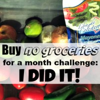 Buy no groceries for a month challenge: I did it!