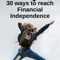 I am starting a series in August, that I hope you will like. I will describe 30 ways to reach financial independence, one per day.