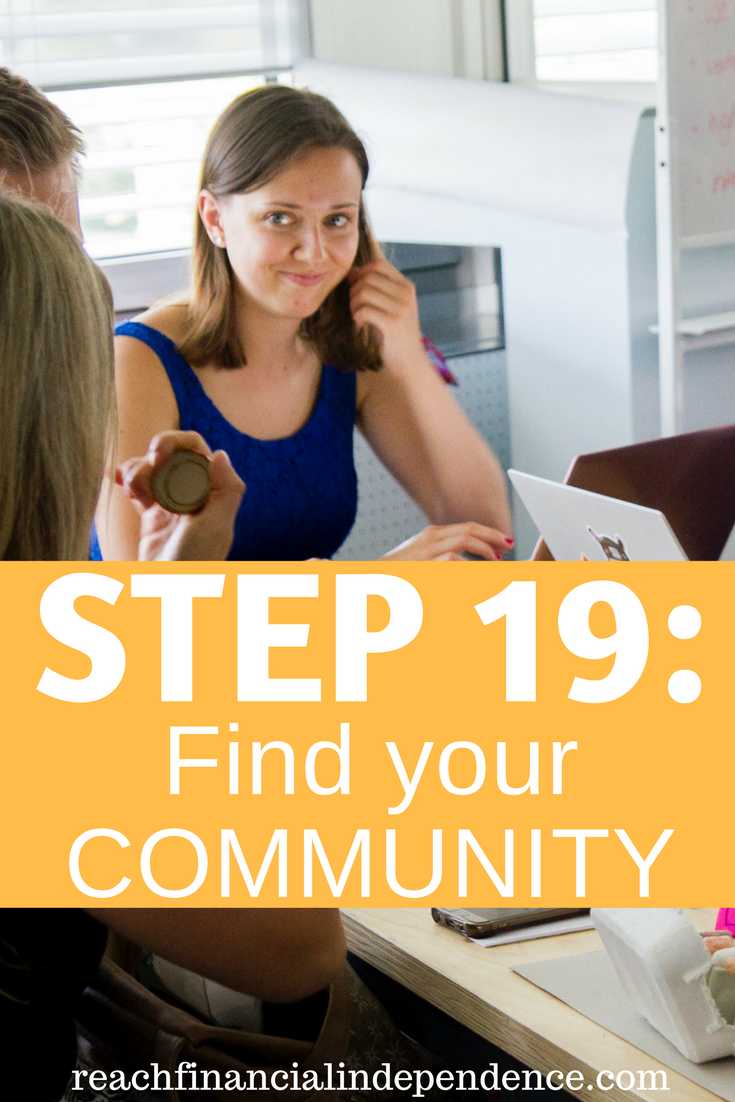 Step 19 Find your community