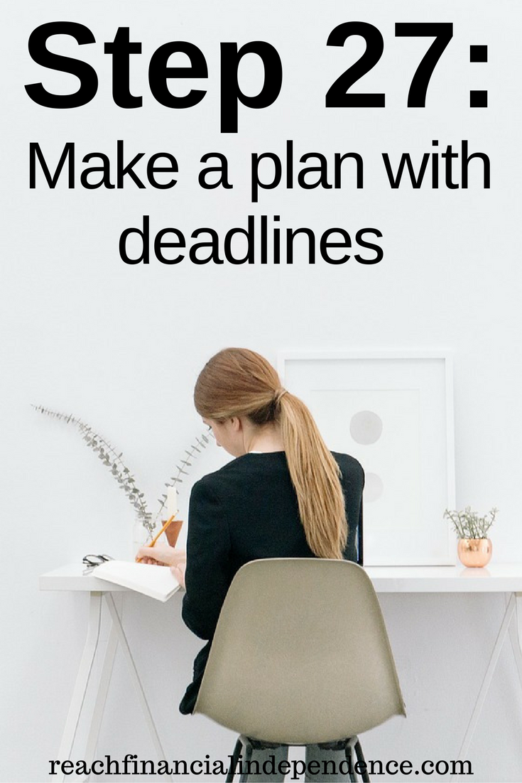 Step 27 Make a plan with deadlines