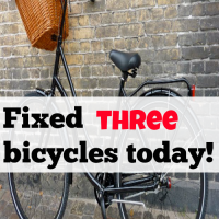 Fixed three bicycles today!