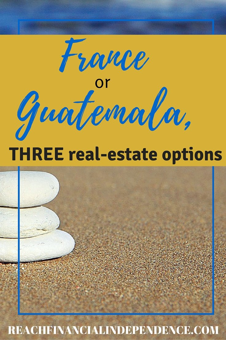 SO.....the winner is... Well, it should be Guatemala. I think the extra transportation costs are offset by a spring-like year-round weather, the lakeside property, and the much lower cost of the land and future house.