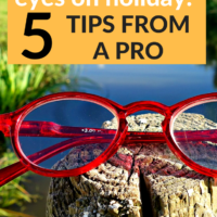 By taking the extra step of planning for your eye needs, you can have a wonderful vacation without having to track down the local eye doctor to help with what you forgot. The most beautiful destinations become much less fun if you can't see them clearly!