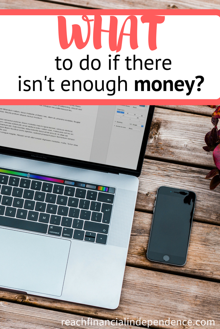 What to do if there isnt enough money
