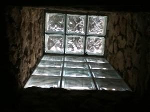 skylight in the bathroom