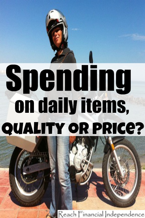 Spending on daily items, quality or price