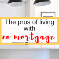 The pros of living with no mortgage. Let's not digress. Having no mortgage gave me peace of mind for those 10 years and yes, you can live with no mortgage too! #financialindependence #nomortgage #freedom