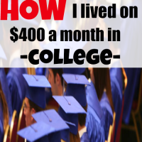 lived on $400 a month in college