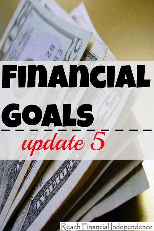 Financial goals update 5