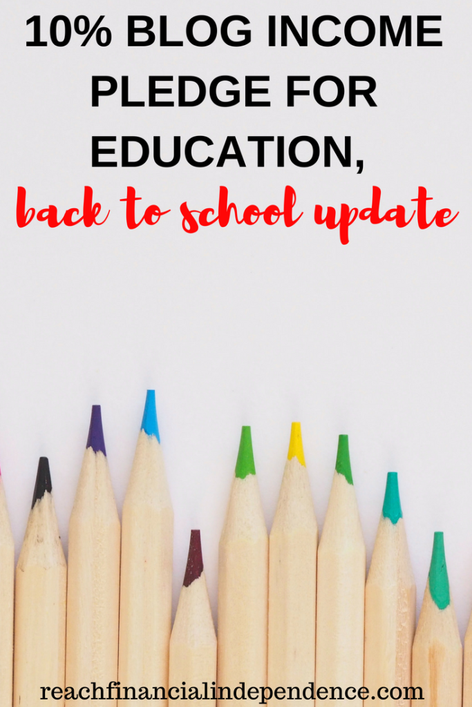 10% blog income pledge for education, back to school update. Since I started Make Money Your Way last July, I took a pledge to give 10% of my blogging income to support children education in my village. #backtoschool