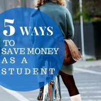 5 ways to save money as a student