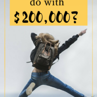 What would you do with $200,000? It was pretty unexpected but I sold an investment recently, and with another one coming to term, the insurance money from the investment gone wrong, and some decent online income, I now have quite a bit of cash and don't know what to do. #financialindependence #financialfreedom