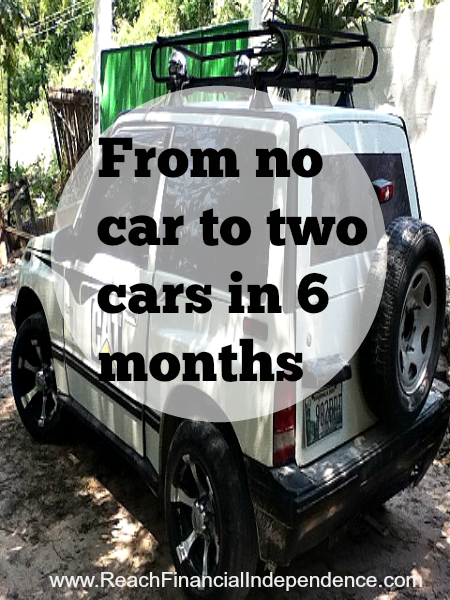From no car to two cars in 6 months
