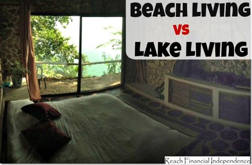 Beach living vs lake living