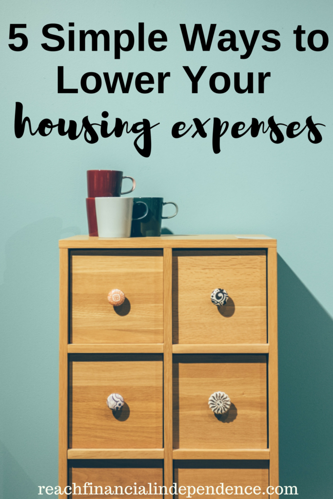 If your renting cost eats up lion's share of your income, here are a 5 simple ways to lower your housing expenses and to save on it.