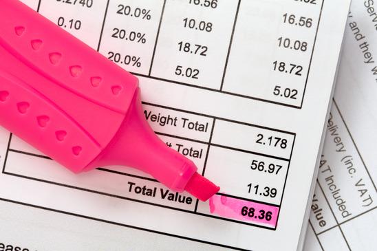 Invoice balance