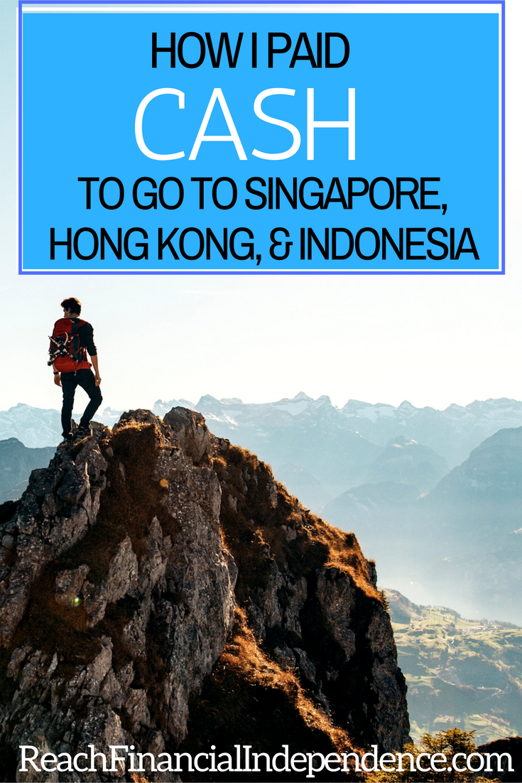 How I Paid Cash to Go to Singapore, Hong Kong, & Indonesia. If you want to travel more, then I hope this will encourage you to start putting together your plan today so that you can experience all that travelling the world has to offer sooner rather than later.